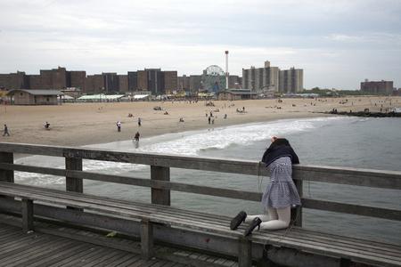 Crabbing Girl, Coney Island, Brooklyn