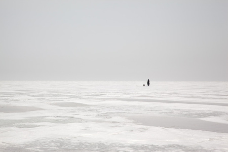 Ice Fishing Amurskiy Bay