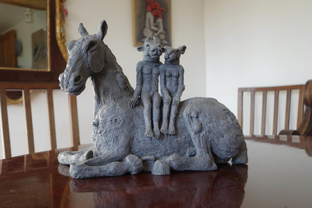 Reclining Horse with Lovers