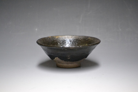Tea Bowl, Black Raku Ware