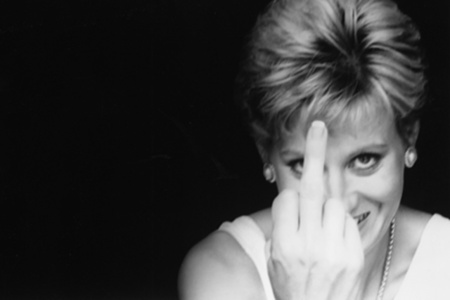 Diana Gives The Finger