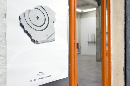 "View of the entrance to the exhibition ""Reasoning well with badly drawn figures"" by Fran Meana, installation view at NoguerasBlanchard, Madrid"