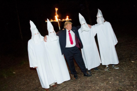 Donald Trump with KKK