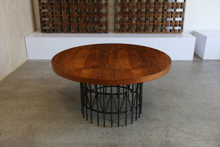Rosewood & Bronze Centre Table by Milo Baughman for Thayer Coggin
