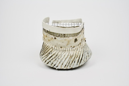 Cinched Vessel w/ Wire Basket