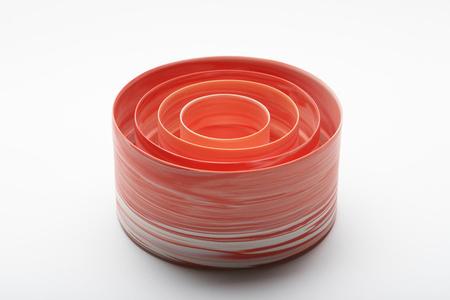 Shadowed Color: red cylinder set