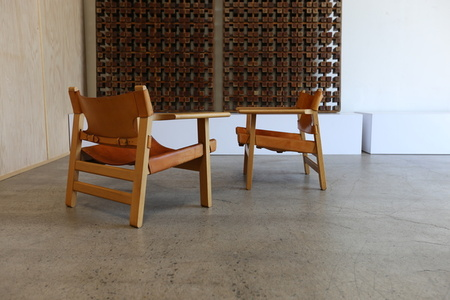Pair of Spanish Chairs by Børge Mogensen