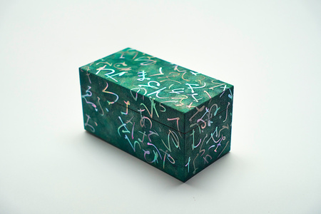 Mother of pearl inlay letter pattern small box