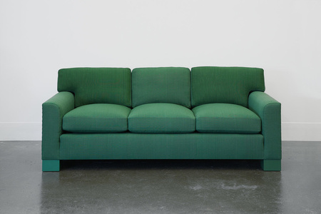 Domestic Sofa in Handwoven Green Fabric