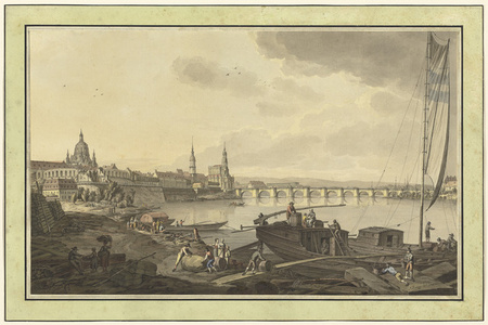 Dresden from the Banks of the Elbe River