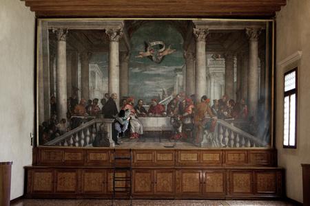"""Supersymmetric Partner, Paolo Veronese """"Cena In Casa di Simone"""", Santuario di Monte Berico, Vicenza"""