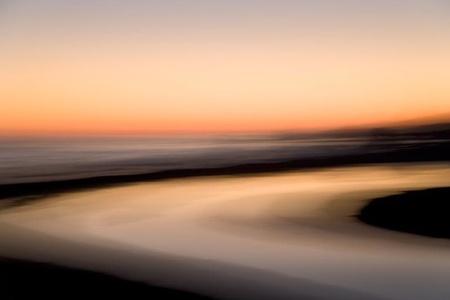 Sunset, San Simeon Creek, California
