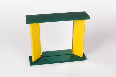 Green Yellow Memphis Table Mirror by Marco Zannini, 1990s