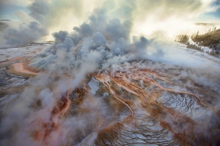Grand Prismatic Spring at Minus 10 Degrees, Yellowstone National Park