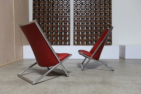 Pair of Scissor Chairs by Ward Bennett