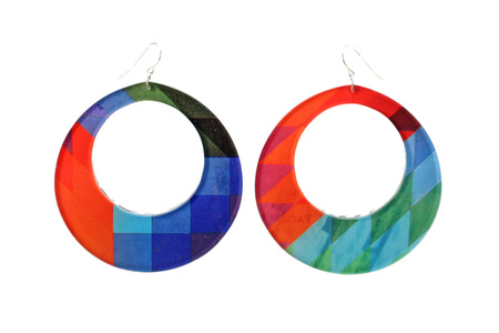 Vasarely Large Round Hoop Earrings