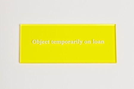 Object temporarily on loan