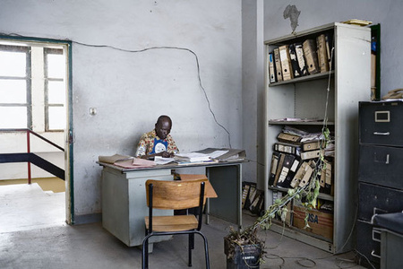 City Hall offices, Lubumbashi, DR Congo, from Avenue Patrice Lumumba