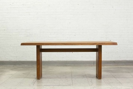 Solid elm rectangular table