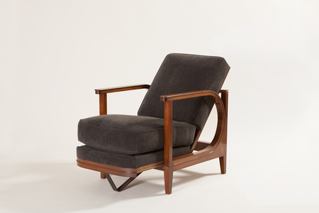 Armchair with sliding seat and back
