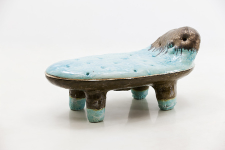 Low Bench in Glazed Ceramic