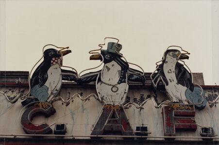 "From the series ""Estampas Porteñas"", ""Three penguins, Mataderos"""