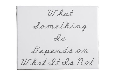 What Something Is Depends on What It is Not No.2
