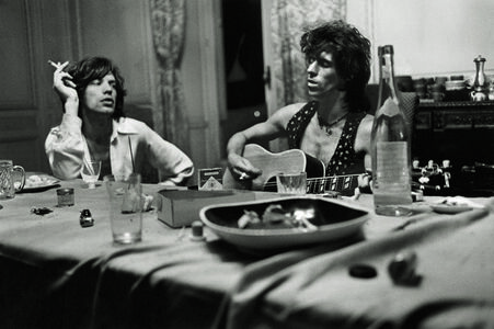 Mick and Keith Dining, 1971