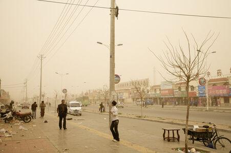 Tempête è Hongsibao, Chine (Le Dust Bowl chinois)