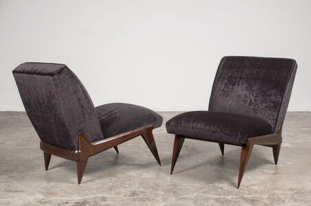 Pair of lounge chairs