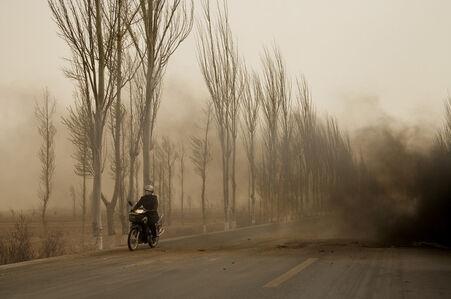 La motocyclette, Mongolie Intérieure (Le Dust Bowl chinois)