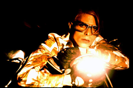 David Bowie with Motorcycle