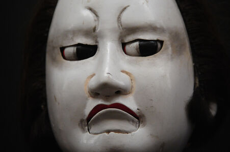 """Iwafuji"" Spirited face of wooden puppet"