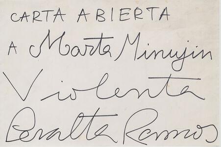 Carta abierta a Marta Minujin
