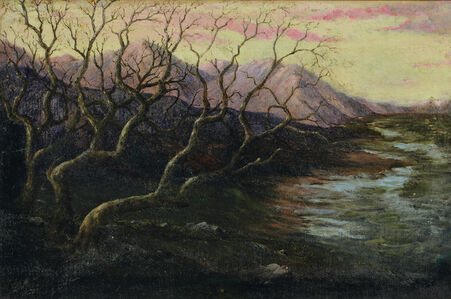 Sunset Landscape with Trees (Possibly Gloucester)