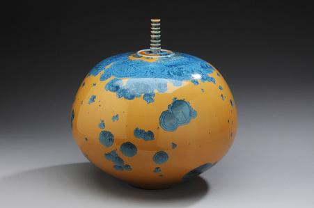 Jar with Yellow Crystalline Glaze