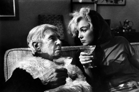 Carl Sandburg and Marilyn Monroe