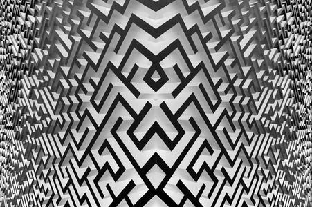 Maze (relative), black and white, 2016