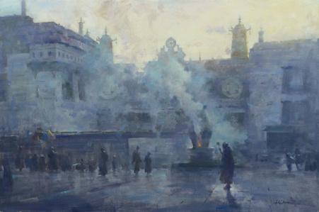 Morning Incense at Johang Monestery Lhasa