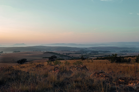 The Cradle of Humankind from Spioenkop - sniper outpost used by boers during wars with African chiefdoms and Britons