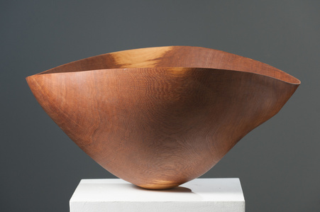 Large Brown Oak Vessel