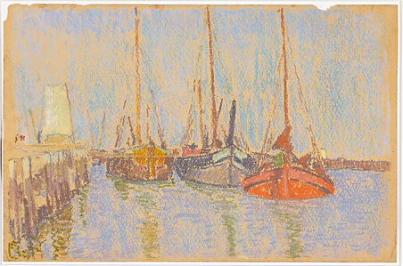 Boote im Hafen (Boats in the harbor)