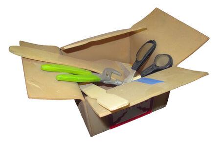 Cardboard Box with Tools