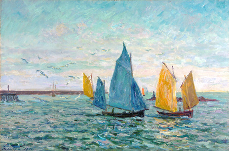 Return of the Shrimp-Fishing Boats, Le Croisic