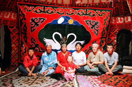 Family in Yurt
