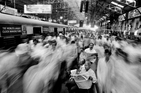 Rush at Local Train Church Gate, Mumbai