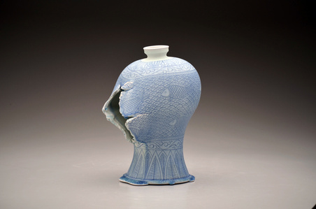 Maebyeong Vase with Fish Decoration