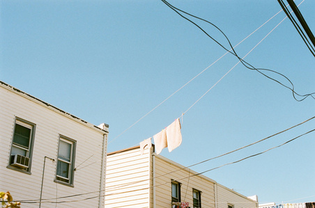 Untitled (Laundry and Telephone Wires)