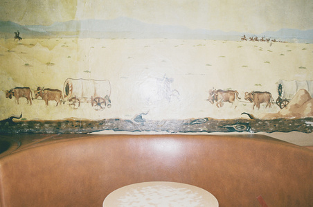 Untitled (bar table and mural)