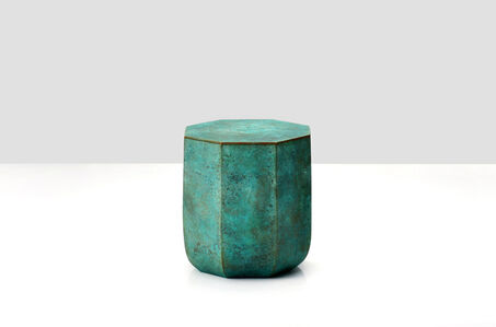 Octagon shaped bronze box